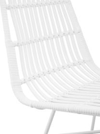 Chaise polyrotin Tulum, 2pièces, Assise: blanc Structure: blanc, mat
