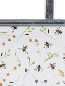 Duża balkonowa osłonka na doniczkę z hakiem Bee, Metal powlekany, Biały, S 39 x W 26 cm