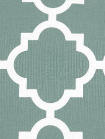 Federa arredo con motivo grafico Lana, 100% cotone, Verde salvia, bianco, Larg. 45 x Lung. 45 cm