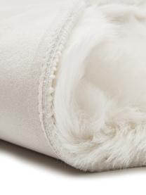 Kunstfell-Teppich Mathilde, glatt, Flor: 65% Acryl, 35% Polyester, Rückseite: 100% Polyester, Creme, 60 x 180 cm