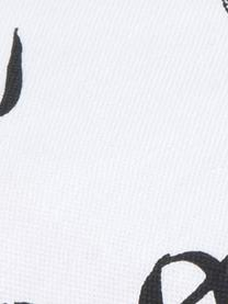 Kissenhüllen Noel, 2er-Set, Baumwolle, Schwarz, Weiss, 40 x 40 cm