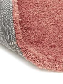Tappeto peloso morbido terracotta Leighton, Retro: 70% poliestere, 30% coton, Terracotta, Larg. 200 x Lung. 300 cm (taglia L)