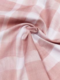 Housse de coussin 50x50 réversible Check par Candice Gray, Rose