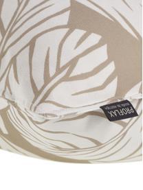 Kissenhülle Raul mit Blättermotiven, 100% Baumwolle, Sandfarben, gebrochenes Weiß, 40 x 40 cm
