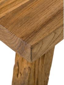 Konsole Lawas aus recyceltem Holz, Teakholz, naturbelassen, Teakholz, B 120 x T 40 cm