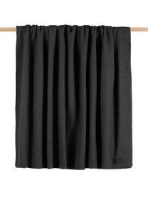 Fleecedecke Secret in Dunkelgrau, 70% Polyester, 30% Viskose, Graphitgrau, 160 x 200 cm