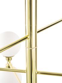 Große Pendelleuchte Grover mit Glaskugeln, Baldachin: Metall, Goldfarben, Ø 70 x H 56 cm