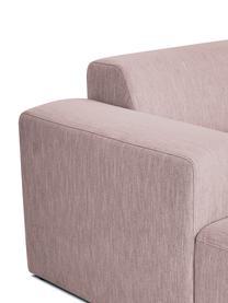 Ecksofa Melva (4-Sitzer) in Rosa, Bezug: Polyester Der hochwertige, Gestell: Massives Kiefernholz, Spa, Füße: Kiefernholz, Webstoff Rosa, B 319 x T 144 cm