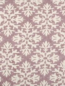 Gemustertes Kissen Blush, mit Inlett, 100% Baumwolle, Mauve, Gebrochenes Weiß, 40 x 40 cm