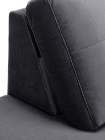 Szezlong z aksamitu z nogami z drewna bukowego Alva, Tapicerka: aksamit (wysokiej jakości, Nogi: lite drewno bukowe, barwi, Aksamitny ciemny szary, S 193 x G 94 cm
