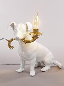 Lampa stołowa Rio, Biały, odcienie złotego, S 25 x W 34 cm