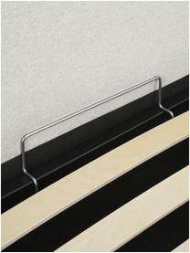 Łóżko tapicerowane z miejscem do przechowywania Dream, Korpus: lite drewno sosnowe, pane, Tapicerka: poliester (tkanina strukt, Kremowobiały, S 180 x D 200 cm