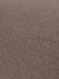 Tabouret de canapé brun avec pieds en métal Fluente, Tissu brun