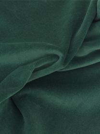 Housse de coussin rectangulaire velours vert émeraude Dana, Vert émeraude