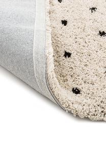 Tappeto taftato a mano Ayana, Retro: 100% cotone, Beige, nero, Larg. 120 x Lung. 180 cm