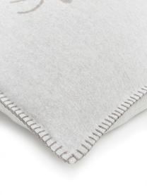 Housse de coussin 50x50 polaire gris beige Style Cerf, Beige