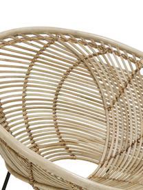 Rattan-Sessel Circles, Sitzschale: Rattan, Beine: Metall, pulverbeschichtet, Rattan, B 72 x T 79 cm