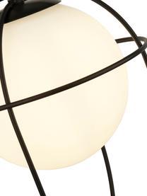 Lampada a sospensione con paralume in vetro Axis, Paralume: vetro, Struttura: metallo verniciato a polv, Baldacchino: metallo verniciato a polv, Nero, Ø 23 x Alt. 37 cm
