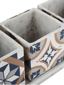 Komplet osłonek na doniczkę XS z betonu Portugal, 4 elem., Beton, Wielobarwny, S 36 x W 13 cm