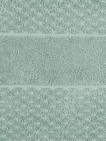 Handtuch Katharina in verschiedenen Größen, mit Wabenmuster, Grün, Handtuch