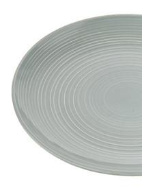 Set stoviglie con superficie strutturata Darby 12 pz, New bone china, Verde, bianco incrinato, Set in varie misure