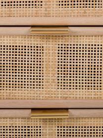 Table de chevet rustique Cayetana Shelfy, Brun