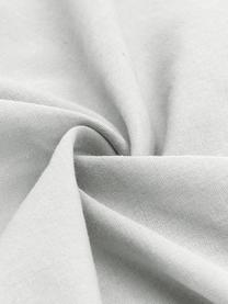 Gewaschene Leinen-Kopfkissenbezüge Nature in Hellgrau, 2 Stück, Halbleinen (52% Leinen, 48% Baumwolle)  Fadendichte 108 TC, Standard Qualität  Halbleinen hat von Natur aus einen kernigen Griff und einen natürlichen Knitterlook, der durch den Stonewash-Effekt verstärkt wird. Es absorbiert bis zu 35% Luftfeuchtigkeit, trocknet sehr schnell und wirkt in Sommernächten angenehm kühlend. Die hohe Reißfestigkeit macht Halbleinen scheuerfest und strapazierfähig., Hellgrau, 40 x 80 cm