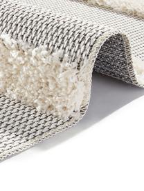 Tappeto da interno-esterno grigio-crema Ifrane, Retro: polipropilene, Crema, grigio, Larg.155 x Lung. 230 cm (taglia M)