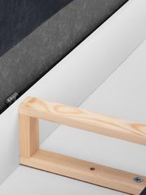 Sofa rozkładana z aksamitu z miejscem do przechowywania Lea (3-osobowa), Tapicerka: aksamit poliestrowy, Nogi: metal malowany proszkowo, Ciemny niebieski, S 215 x G 94 cm