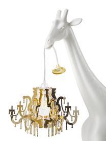 Lampada da terra di design Giraffe in Love, Paralume: materiale sintetico, Lampada: materiale sintetico, Bianco, dorato, Larg. 60 x Alt. 100 cm