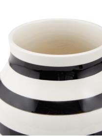 Vase design fait main Omaggio, taille moyenne, Noir, blanc