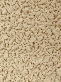 Copertura divano angolare Roc, 55% poliestere, 35% cotone, 10% elastomero, Beige, Larg. 600 x Alt. 120 cm
