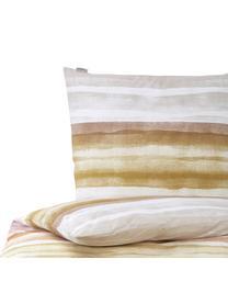 Gestreifte Baumwoll-Bettwäsche Colour Palette, 100% Baumwolle  Fadendichte 144 TC, Standard Qualität  Bettwäsche aus Baumwolle fühlt sich auf der Haut angenehm weich an, nimmt Feuchtigkeit gut auf und eignet sich für Allergiker, Mehrfarbig, 155 x 220 cm + 1 Kissen 80 x 80 cm