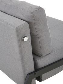 Canapé convertible gris clair Edward, Tissu gris clair