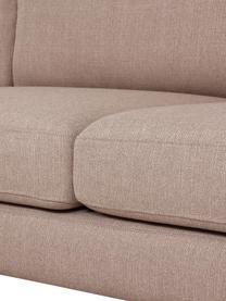 Sofa narożna z metalowymi nogami Cucita (3-osobowa), Tapicerka: tkanina (poliester) Dzięk, Nogi: metal lakierowany, Taupe, S 262 x G 163 cm