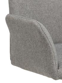 Drehstuhl Naya in Grau, Bezug: Polyester Der hochwertige, Gestell: Metall, pulverbeschichtet, Webstoff Hellgrau, B 59 x T 59 cm