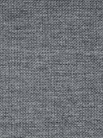 Ecksofa Emma in Grau mit Metall-Füssen, Bezug: Polyester 100.000 Scheuer, Gestell: Massives Kiefernholz, Webstoff Grau, Füsse Schwarz, B 302 x T 220 cm
