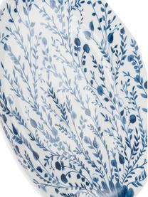 Assiette plate bleue Vassoio, 6élém., Bleu, blanc
