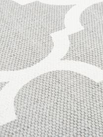 Alfombra de algodón Amira, 100%algodón, Gris claro, crema, An 160 x L 230 cm (Tamaño M)