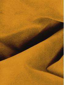 Samt-Sofa Moby (3-Sitzer) in Senfgelb mit Metall-Füßen, Bezug: Samt (Hochwertiger Polyes, Gestell: Massives Kiefernholz, Füße: Metall, pulverbeschichtet, Samt Senfgelb, B 220 x T 95 cm