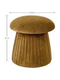 Puf z aksamitu Roberta, Tapicerka: aksamit poliestrowy 4000, Stelaż: płyta pilśniowa średniej , Brązowy, Ø 44 x W 45 cm