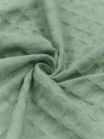 Narzuta z piki Panal, Bawełna, Zielony, S 180 x D 260 cm