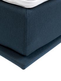 Łóżko tapicerowane Luna, Korpus: lite drewno bukowe, lakie, Tapicerka: 100% poliester, Nogi: lite drewno bukowe, lakie, Niebieski, S 180 x D 200 cm
