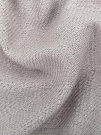 Plaid Madison in lichtgrijs met franjes, 100% katoen, Lichtgrijs, 130 x 170 cm