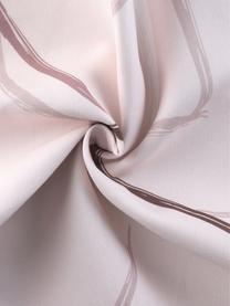 Federa arredo Curves, 100% cotone, Rosa, bianco, Larg. 40 cm x Lung. 40 cm