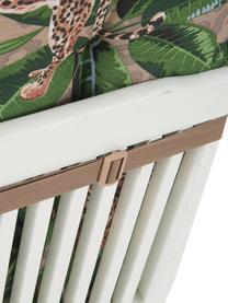 Hochlehner-Stuhlauflage Lenny mit tropischem Print, Bezug: 50% Baumwolle, 45% Polyes, Taupe, Grün, Braun, Schwarz, 50 x 123 cm