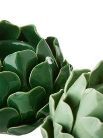 Set portalumini Rose, 2 pz., Terracotta, Verde chiaro, verde scuro, Ø 14 x Alt. 9 cm