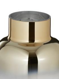 Große Vase Uma, Glas, Transparent, Goldfarben, Ø 16 x H 35 cm