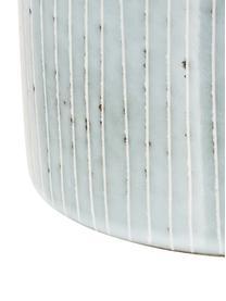 Handgemachte Aufbewahrungsdose Nordic Sea aus Steingut, Ø 12 x H 12 cm, Steingut, Grau- und Blautöne, Ø 12 x H 12 cm
