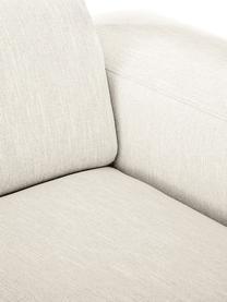Bank Melva (3-zits) in beige, Bekleding: 100% polyester, Frame: massief grenenhout, FSC-g, Poten: kunststof, Geweven stof beige, 238 x 101 cm